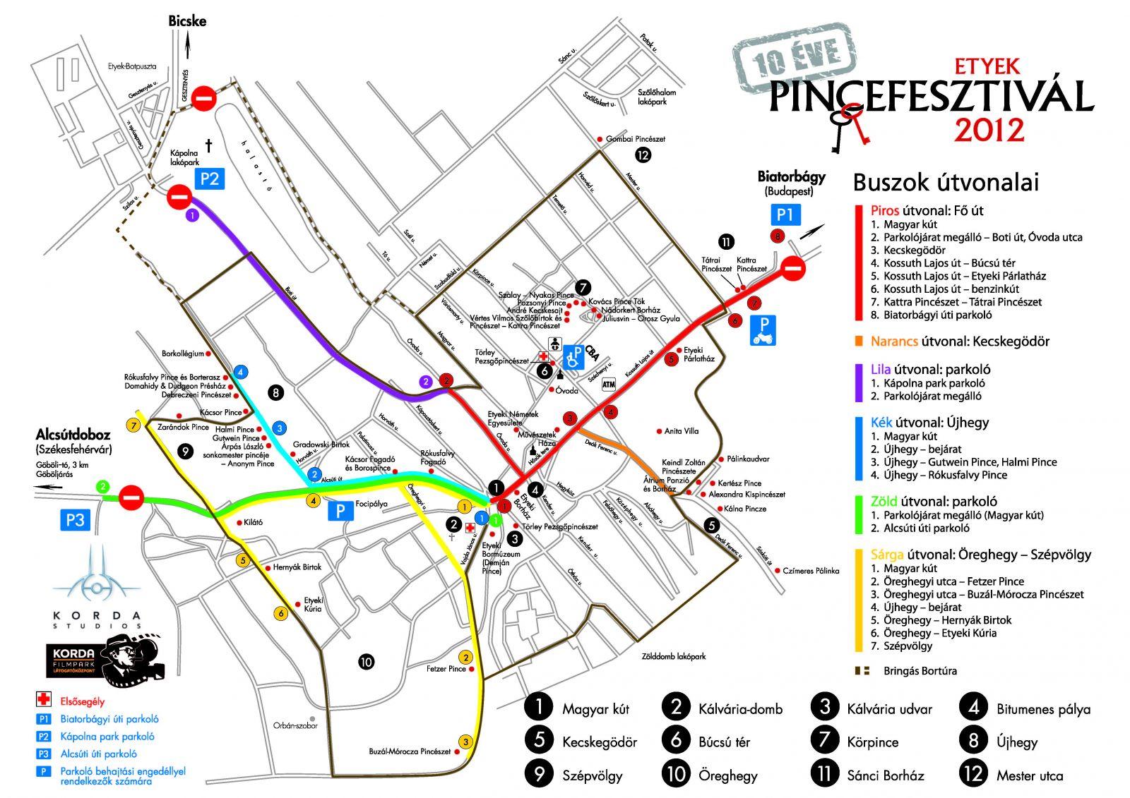 etyek térkép Pálinka rendezvény   Etyeki Pincefesztivál, 2012 etyek térkép